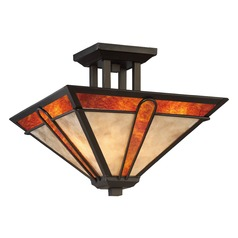 Quoizel Lighting Pearce Terra Bronze Semi-Flushmount Light
