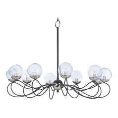 Maxim Lighting Reverb Black / Polished Nickel LED Chandelier