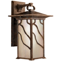 Kichler 15-Inch Distressed Copper Outdoor Wall Light