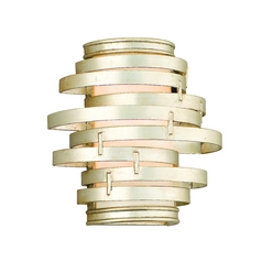 Modern Sconce with Silver Glass Shade in Modern Silver Finish