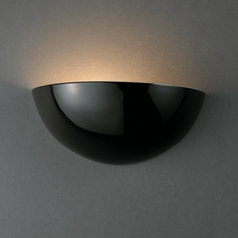 Sconce Wall Light in Gloss Black Finish