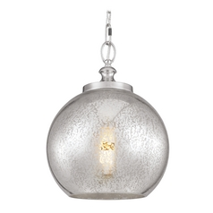 Mercury Glass Pendant Light Polished Nickel Feiss Lighting