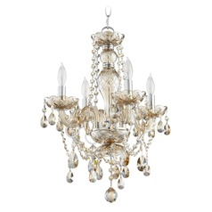 Quorum Lighting Bohemian Katerina Chrome Mini-Chandelier