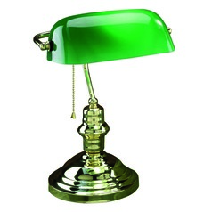 Lite Source Lighting Lite Source Lighting Banker Polished Brass Piano / Banker Lamp LS-224PB