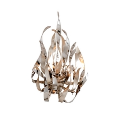 Corbett Lighting Graffiti Silver Leaf and Poli Sconce