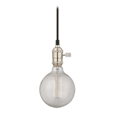 Cloth Cord Mini-Pendant Light with Retro G25 Globe Bulb - 60-Watts