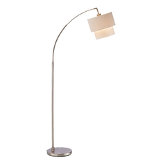 Adesso Home Lighting Gala Satin Steel Arc Lamp
