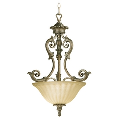 Quorum Lighting Barcelona Mystic Silver Pendant Light
