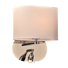 Plc Lighting Mademoiselle Polished Chrome Sconce