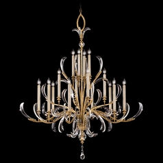 Fine Art Lamps Beveled Arcs Gold Leaf Crystal Chandelier