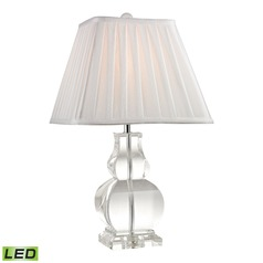 Dimond Lighting Clear LED Table Lamp with Square Shade