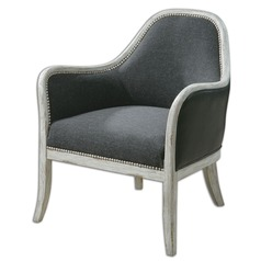 Uttermost Dayla Indigo Accent Chair
