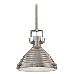 Hudson Valley Lighting Naugatuck Antique Nickel Pendant Light with Conical Shade