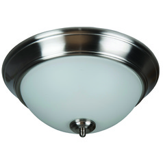 Craftmade Pro Builder Flush Brushed Polished Nickel Flushmount Light