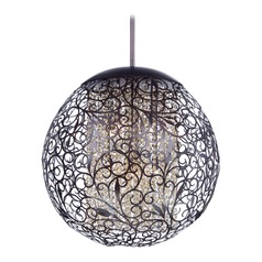 Maxim Lighting Arabesque Oil Rubbed Bronze Pendant Light with Globe Shade