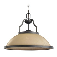 Sea Gull Lighting Roslyn Flemish Bronze LED Pendant Light with Bowl / Dome Shade