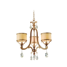 Corbett Lighting Roma Antique Roman Silver Chandelier