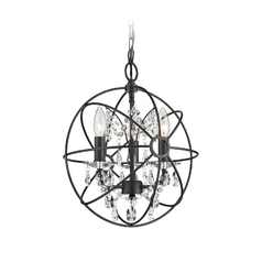 Mini-Chandelier in Bronze Finish