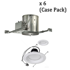 Dimmable 12-Watt LED 6-Inch Recessed Lighting Kit - Case Pack of 6