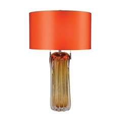 Dimond Lighting Amber Table Lamp with Drum Shade
