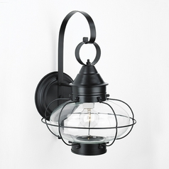 Norwell Lighting Cottage Onion Black Outdoor Wall Light