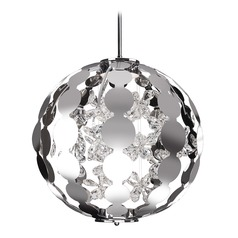 Crystal Chrome LED Pendant with Clear Shade 3000K 390LM