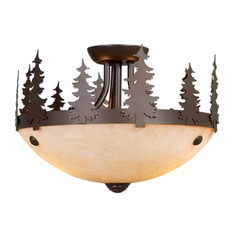 Yosemite Burnished Bronze Semi-Flushmount Light by Vaxcel Lighting