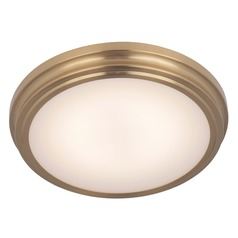 Satin Brass LED Flushmount Light 3000K 1050LM