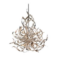 Corbett Lighting Graffiti Silver Leaf and Poli Island Light