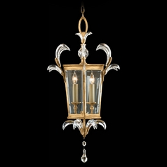 Fine Art Lamps Beveled Arcs Gold Leaf Pendant Light