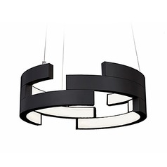Kuzco Lighting Modern Black LED Pendant 3000K 1461LM