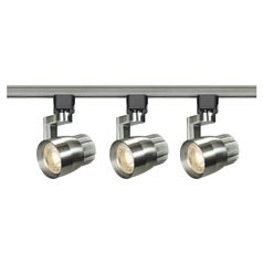 LED Track Light Kit H-Track Brushed Nickel by Nuvo Lighting 3000K 2460LM