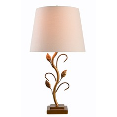 Berkley Gold Table Lamp with Empire Shade by Kenroy Home
