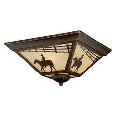 Trail Burnished Bronze Outdoor Ceiling Light by Vaxcel Lighting
