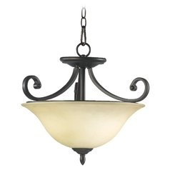 Quorum Lighting Bryant Oiled Bronze Pendant Light with Bell Shade