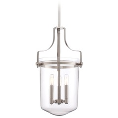 Quoizel Uptown Penn Station Brushed Nickel Pendant Light