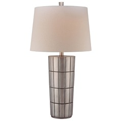 Minka Lavery Charleston Silver Table Lamp with Empire Shade