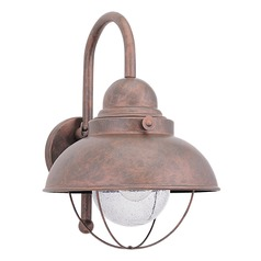 Sea Gull Lighting Sebring Weathered Copper LED Outdoor Wall Light