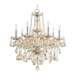 Quorum Lighting Bohemian Katerina Chrome Chandelier