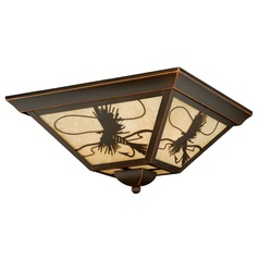 Mayfly Burnished Bronze Outdoor Ceiling Light by Vaxcel Lighting