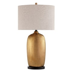 Lite Source Mateo Metallic Glazed Table Lamp with Drum Shade