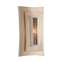 Art Deco Sconce Tranquility Silver Leaf Muse by Corbett Lighting
