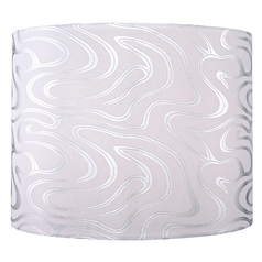 Silver Drum Lamp Shade With Spider Embly