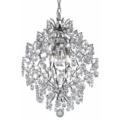 Modern Crystal Chandelier Pendant Light in Chrome Finish