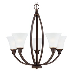 Sea Gull Lighting Metcalf Autumn Bronze Chandelier