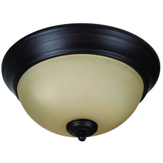 Craftmade Pro Builder Flush Aged Bronze Brushed Flushmount Light