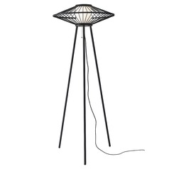 Mid-Century Modern Floor Lamp Black Calypso by Adesso Home Lighting