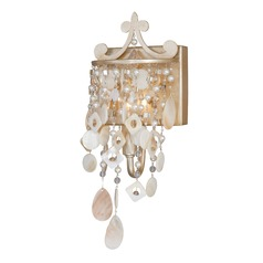 Anastasia Silver Leaf Sconce by Vaxcel Lighting