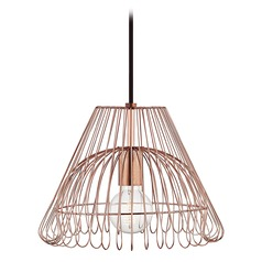 Katie Polished Copper Pendant Light Mitzi by Hudson Valley