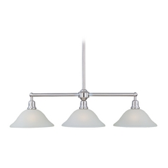Maxim Lighting Bel Air Satin Nickel Island Light with Bell Shade